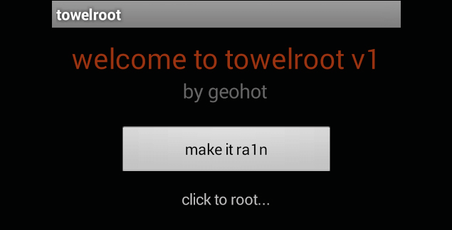 WELCOME TOWELROOT V3 TO TÉLÉCHARGER