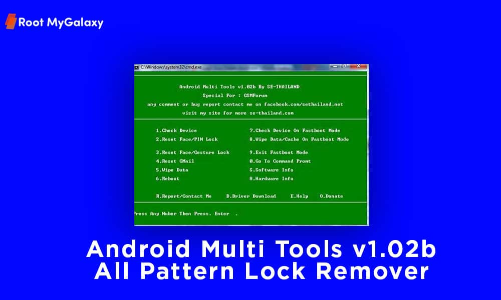 Android Multi Tools v1.02b All Pattern Lock Remover For Windows
