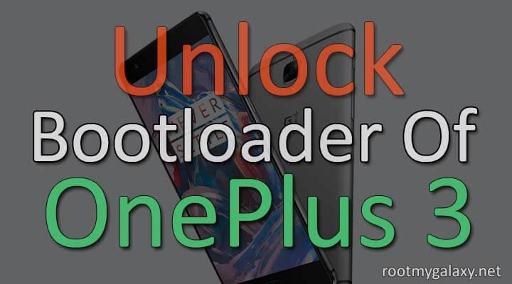 Unlock bootloader of Oneplus 3