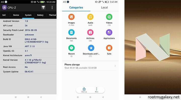 Install Official Android 7.0 Nougat On Huawei P9 (Beta)