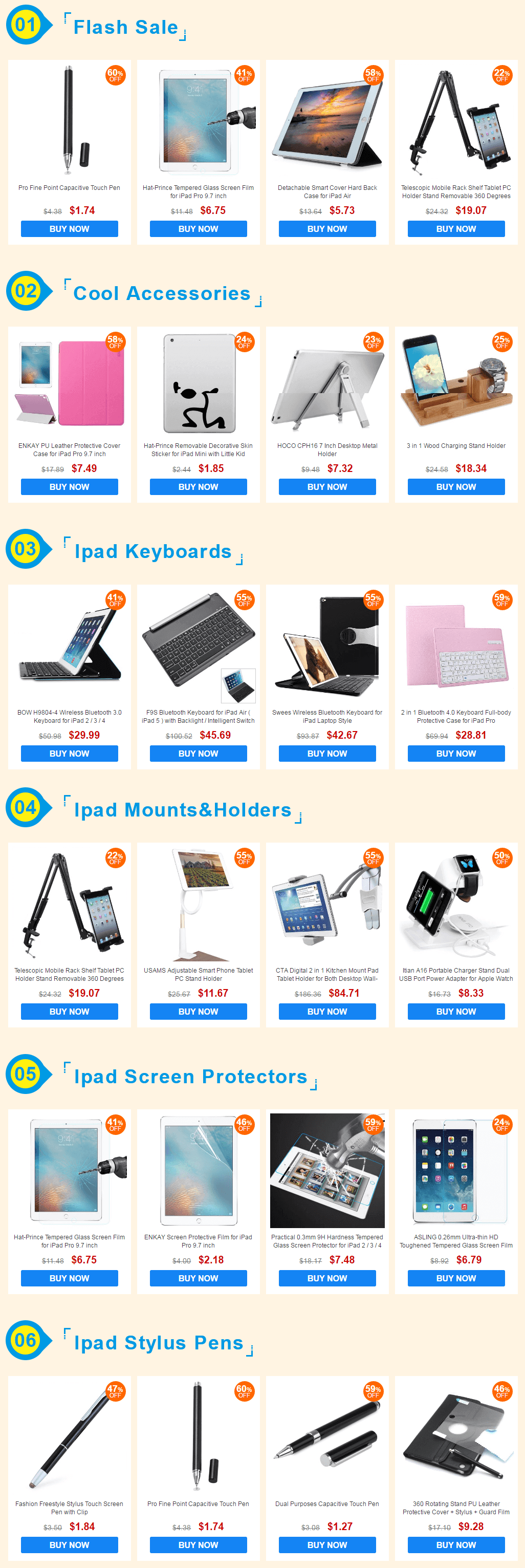 Apple iPad Accessories Centerr Deals