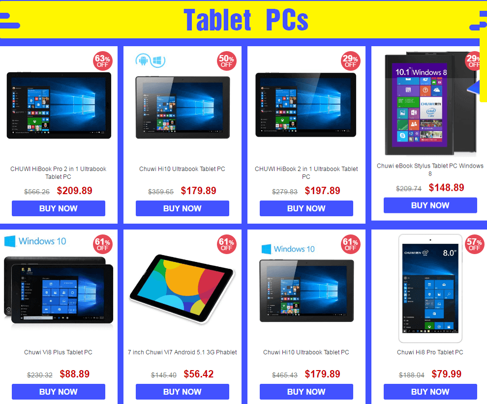 Chuwi Tablet Brand sale-Tablet PCs