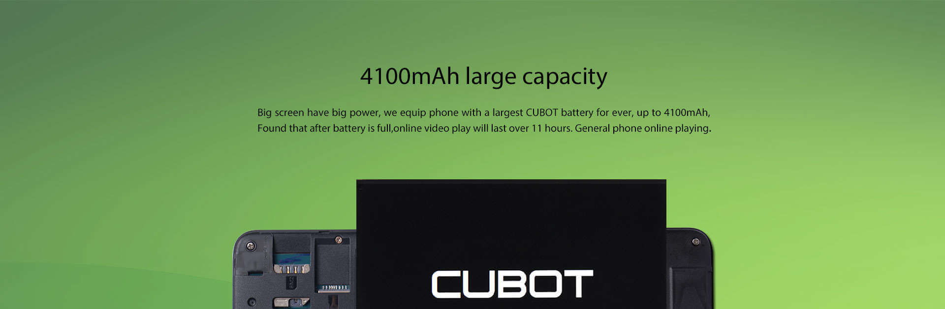 Cubot Max Battery