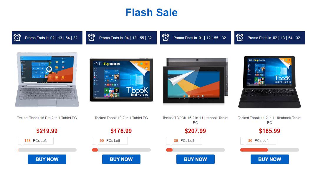 Teclast Tbook Tablet PC Flash sale