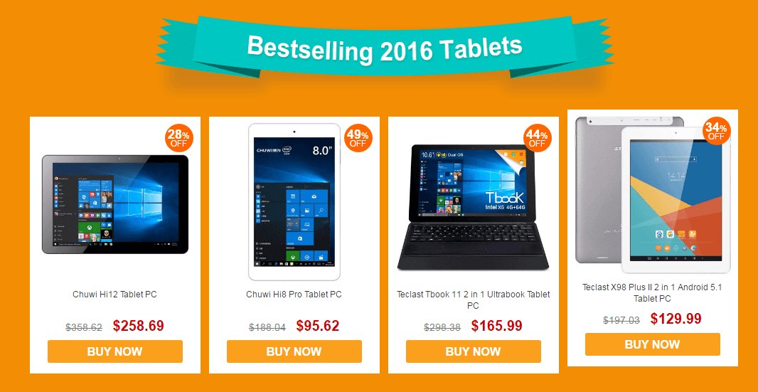 Best Selling Tablet 2016