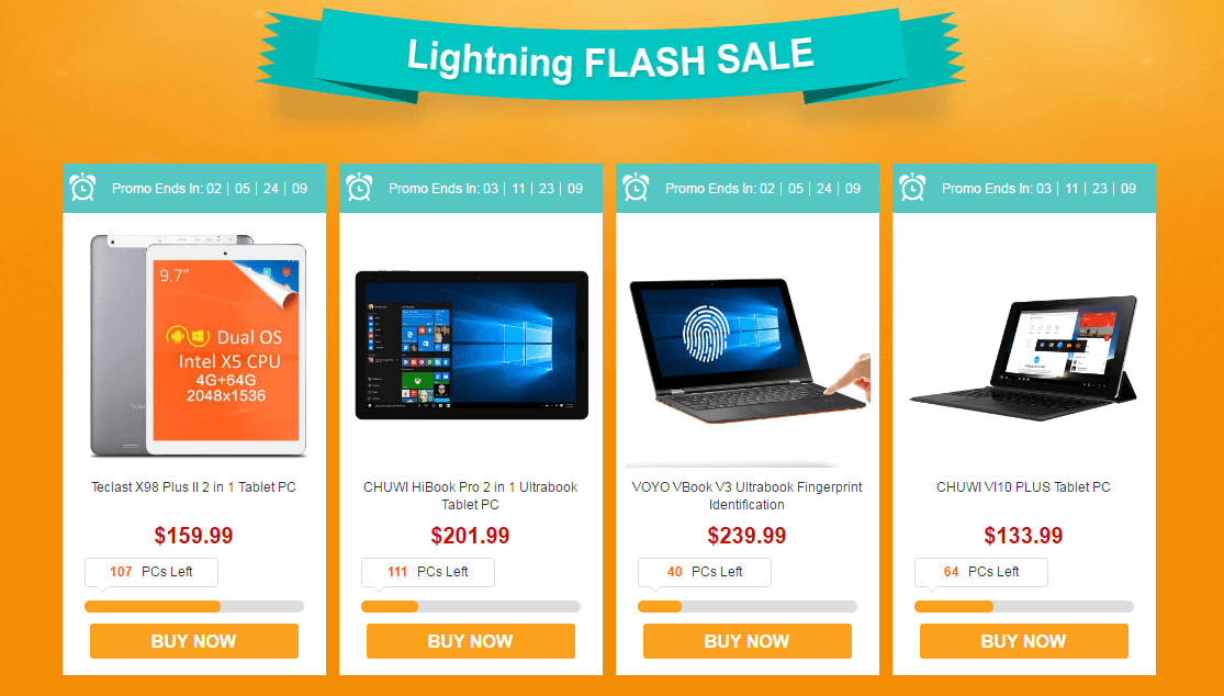 Intel Tablet Promotional sale -Flash Sale
