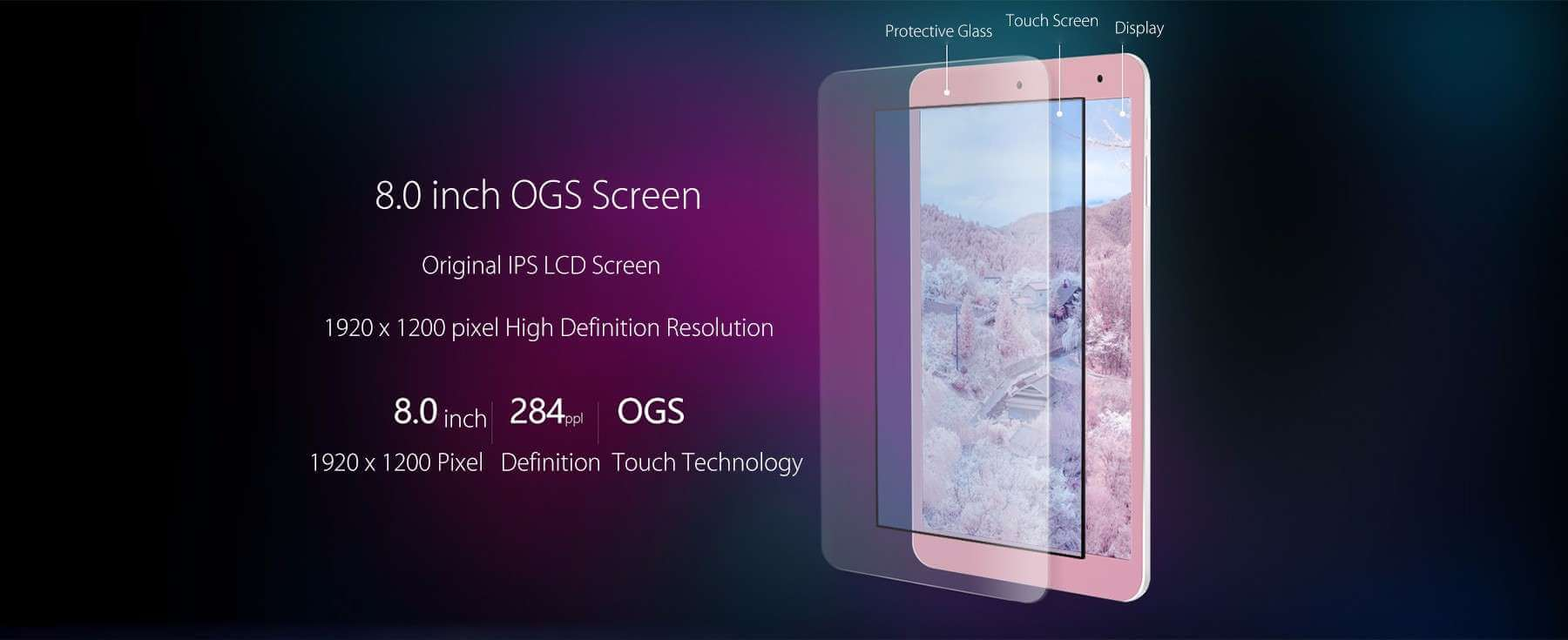 Onda V80 SE Tablet PC Display