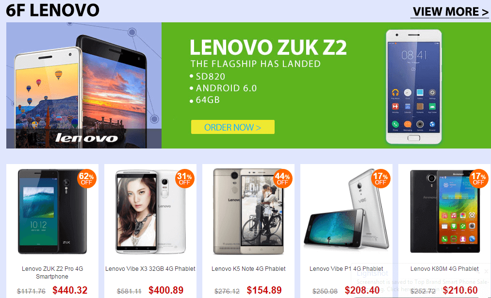 Top Brand Smart Phone Sale- Lenovo