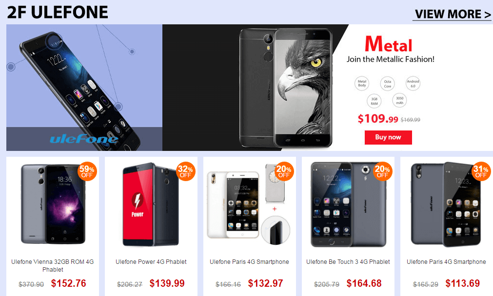 Top Brand Smart Phone Sale-Ulefone