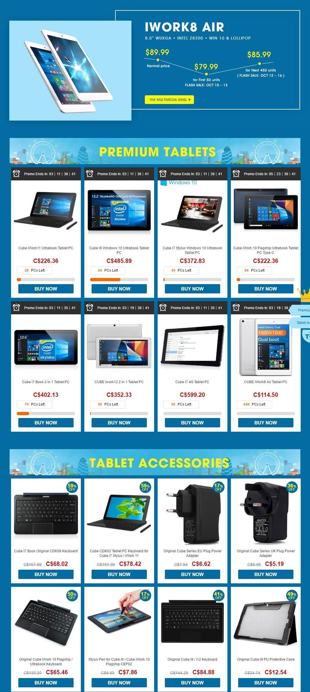 All Products List-Cube Brand 2 in 1 Tablet Flash Sale