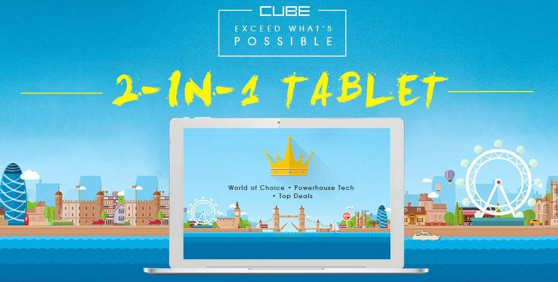 Cube Brand 2 in 1 Tablet Flash Sale