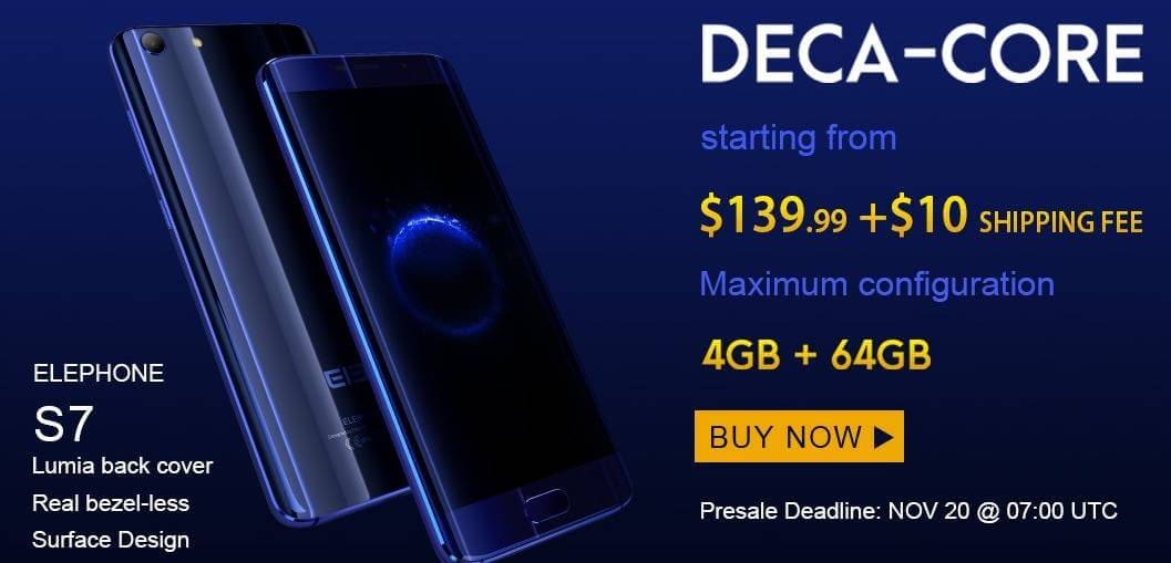 Elefone S7 and S7 Mini Promotional Sale