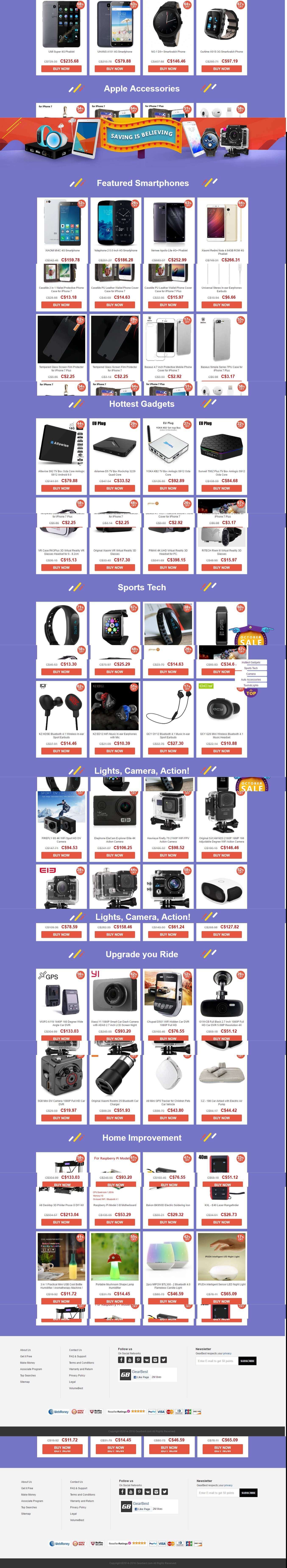 Full Product List- Gearbest's Hottest October Sale