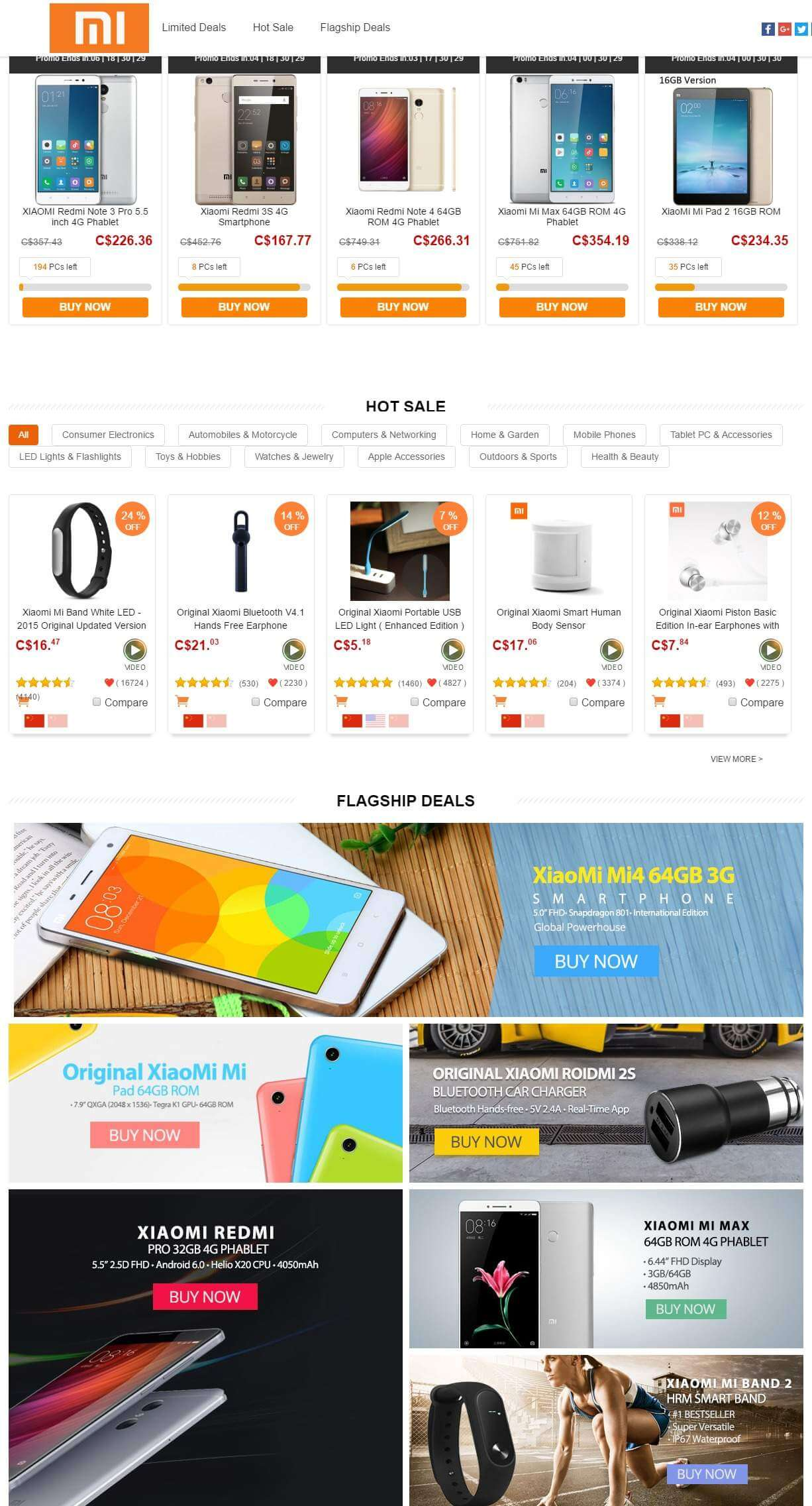 Product list-Xiaomi Brand Promotional Sale