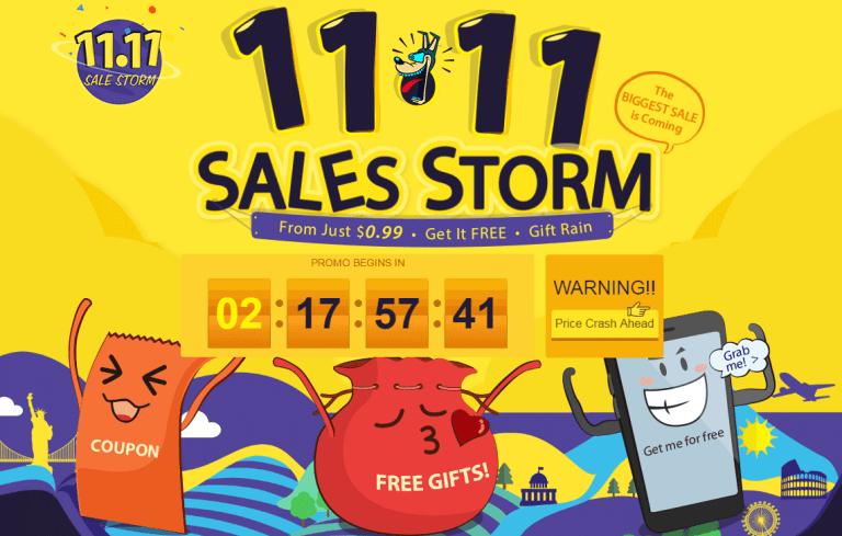 11.11 sales storm sale