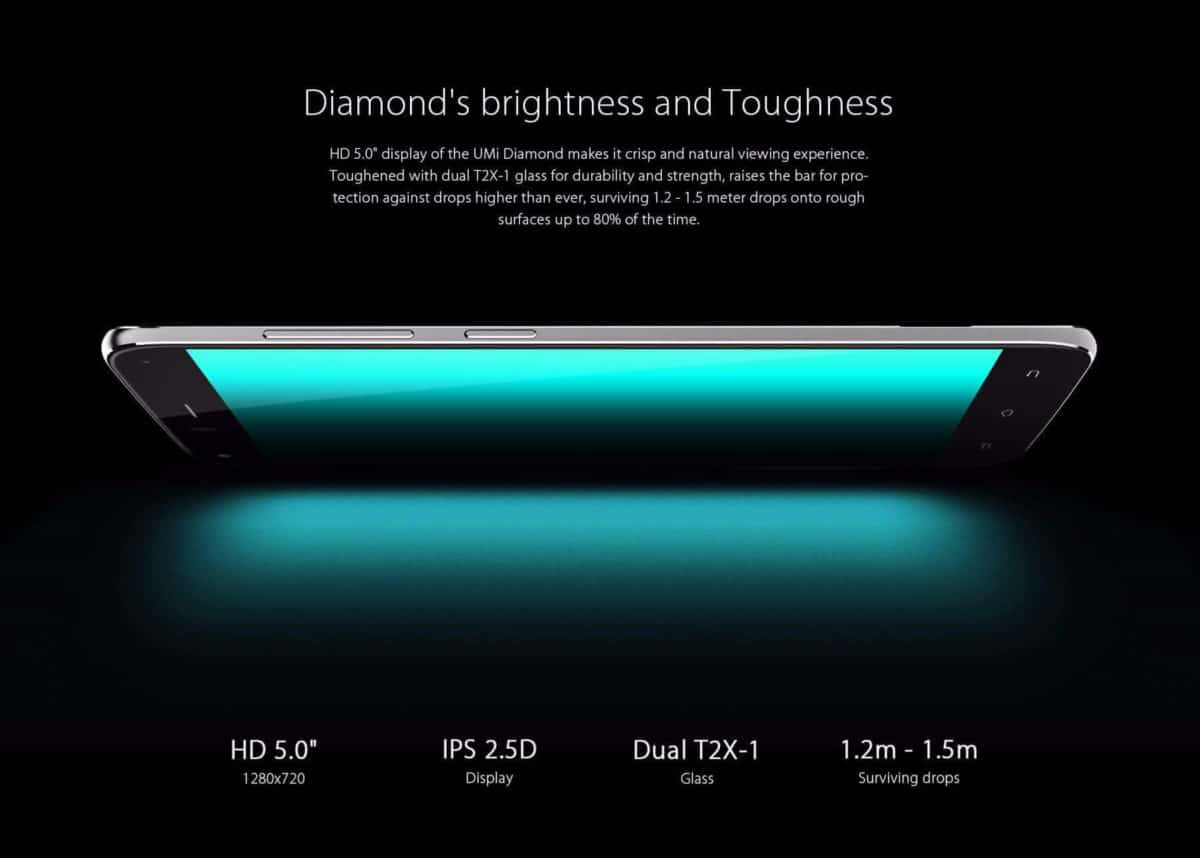 UMi Diamond 4G Smartphone Display