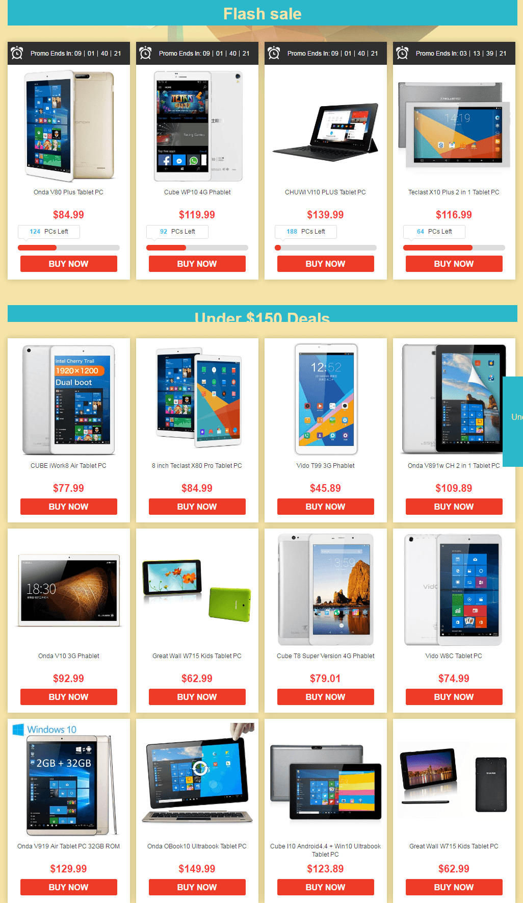 All Products List - Gearbest's Best Budget Tablets Sale