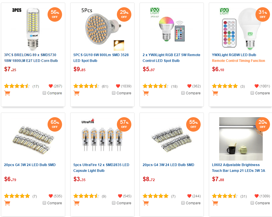 Gearbest's LED Light Bulb Sale