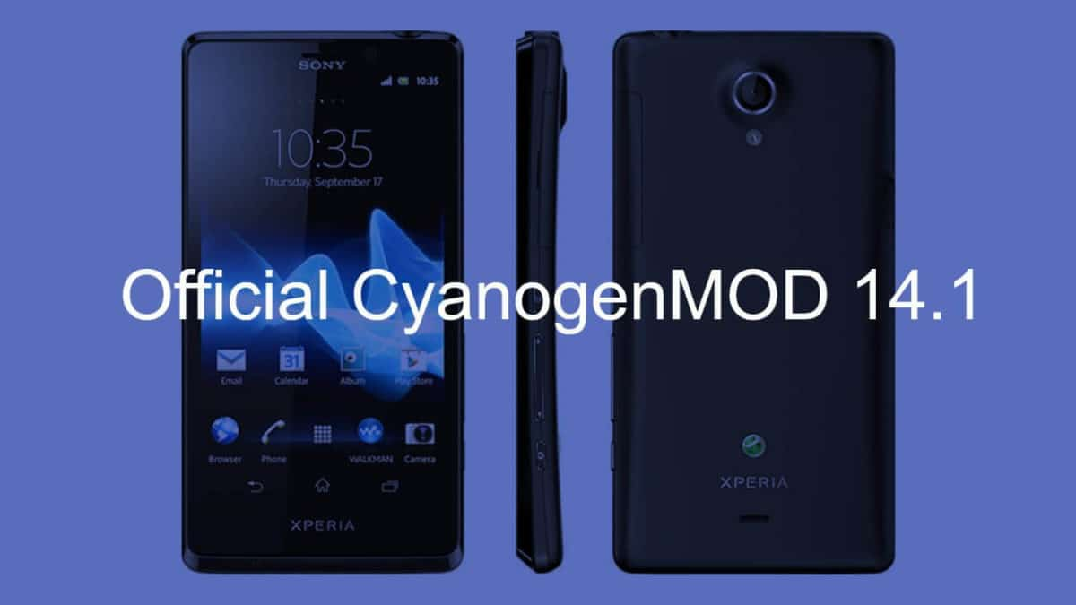 Official CM 14.1 On Sony Xperia T
