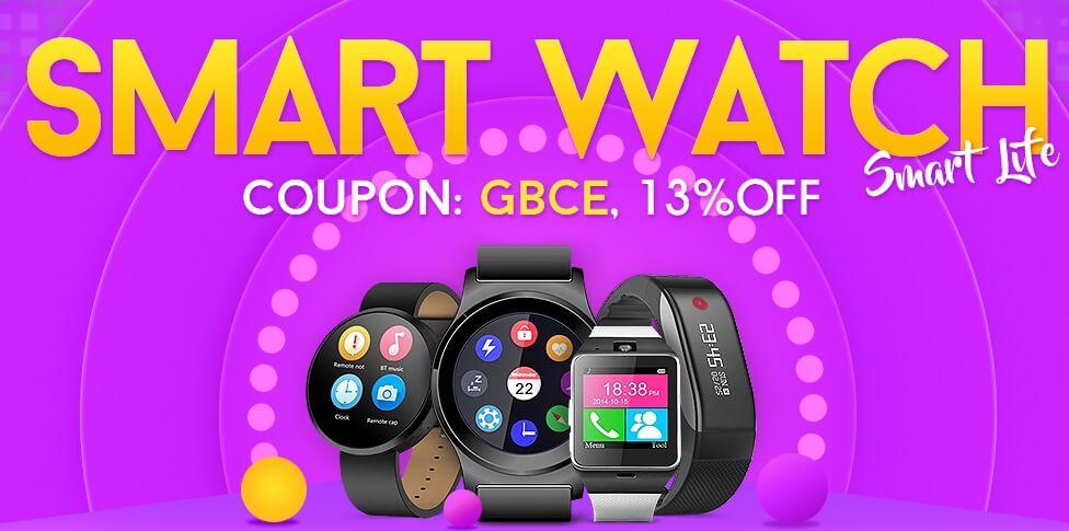 Gearbest's Best Smartwatch Flash Sale (Starting From $18)