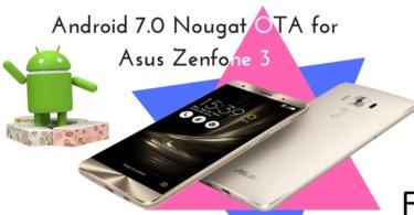 Android 7.0 Nougat OTA for Asus Zenfone-3