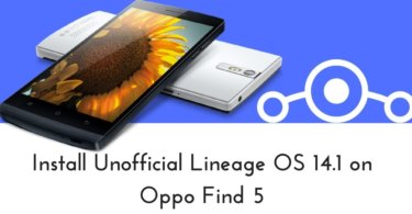 Unofficial Lineage OS 14.1 on Oppo Find 5