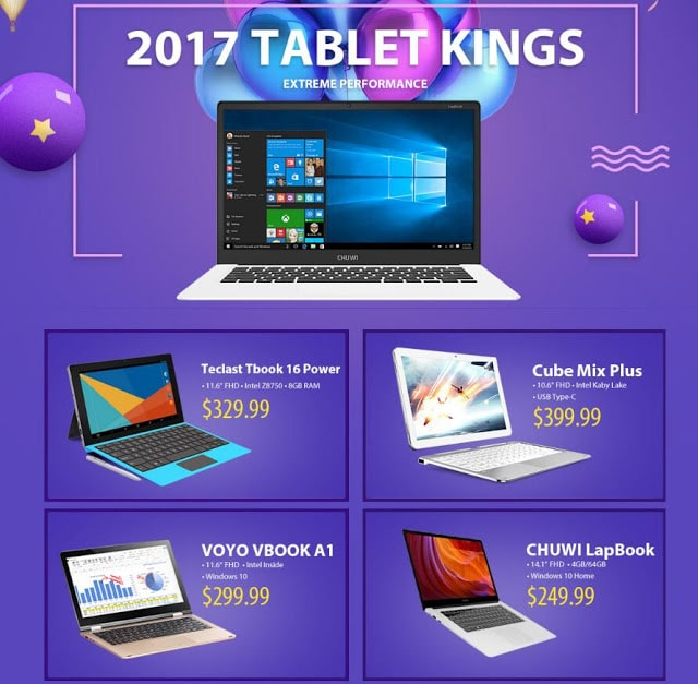 Gearbest's Best PC Tablets Sale 2017 (Staring From $89.99)