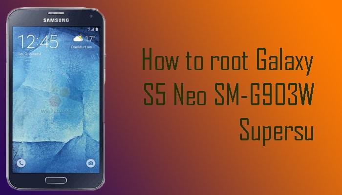 Root Galaxy S5 Neo SM-G903W
