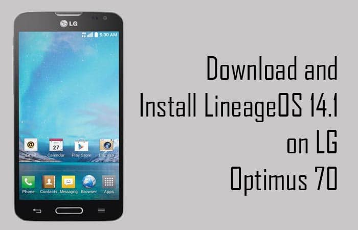 Lineage Os 14.1 On LG Optimus L70
