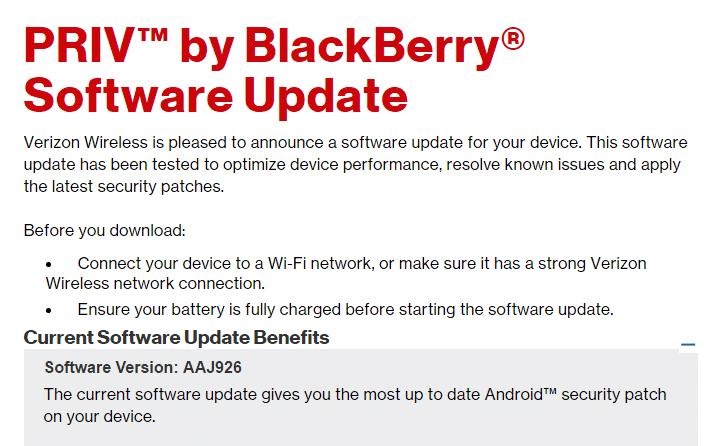Blackberry PRIV March update
