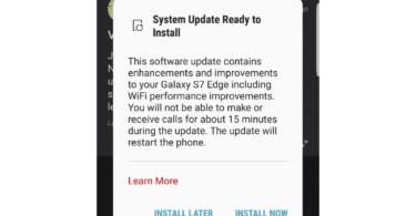 Samsung Galaxy S7 edge update