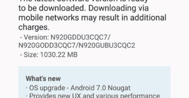 Samsung Galaxy Note 5 update in India