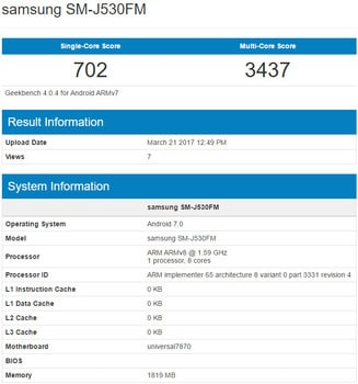 Samsung Galaxy J5 2017 specification details leaked online