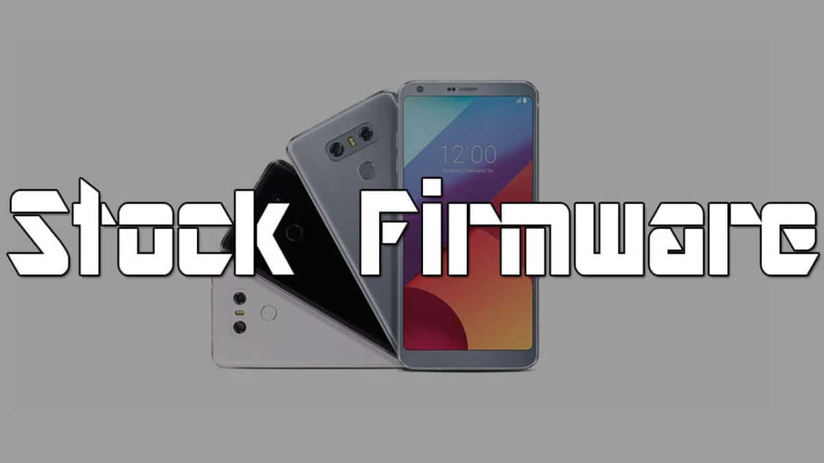 Download Stock Firmware on LG G6