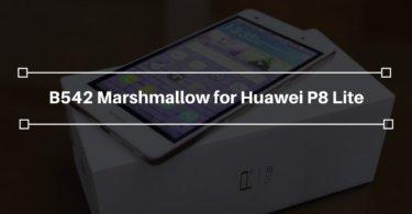 B542 Marshmallow on Huawei P8 Lite