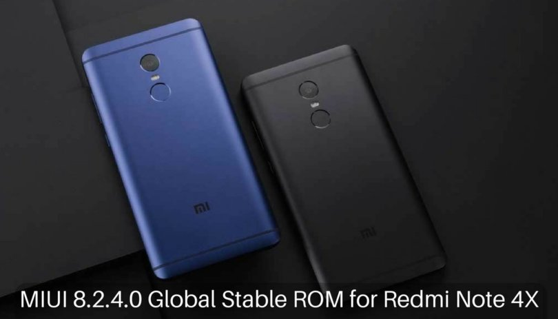MIUI 8.2.4.0 Global Stable ROM on Redmi Note 4X