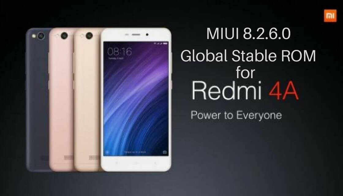 MIUI 8.2.6.0 Global Stable ROM on Redmi 4A