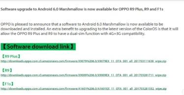 Oppo's Marshmallow update