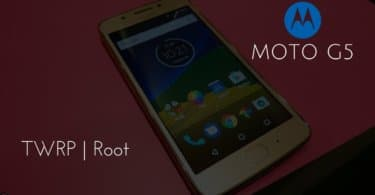 TWRP Recovery and Root Moto G5