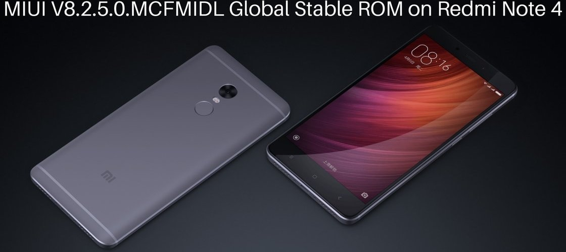 MIUI V8.2.5.0 Global Stable ROM on Redmi Note 4