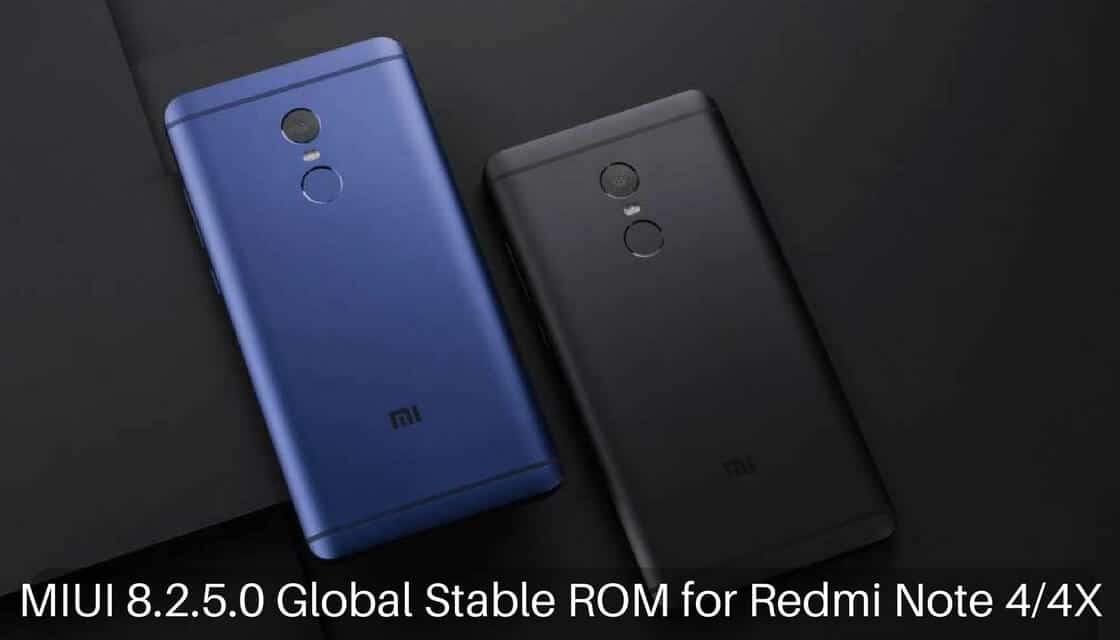 MIUI 8.2.5.0 Global Stable ROM on Redmi Note 4