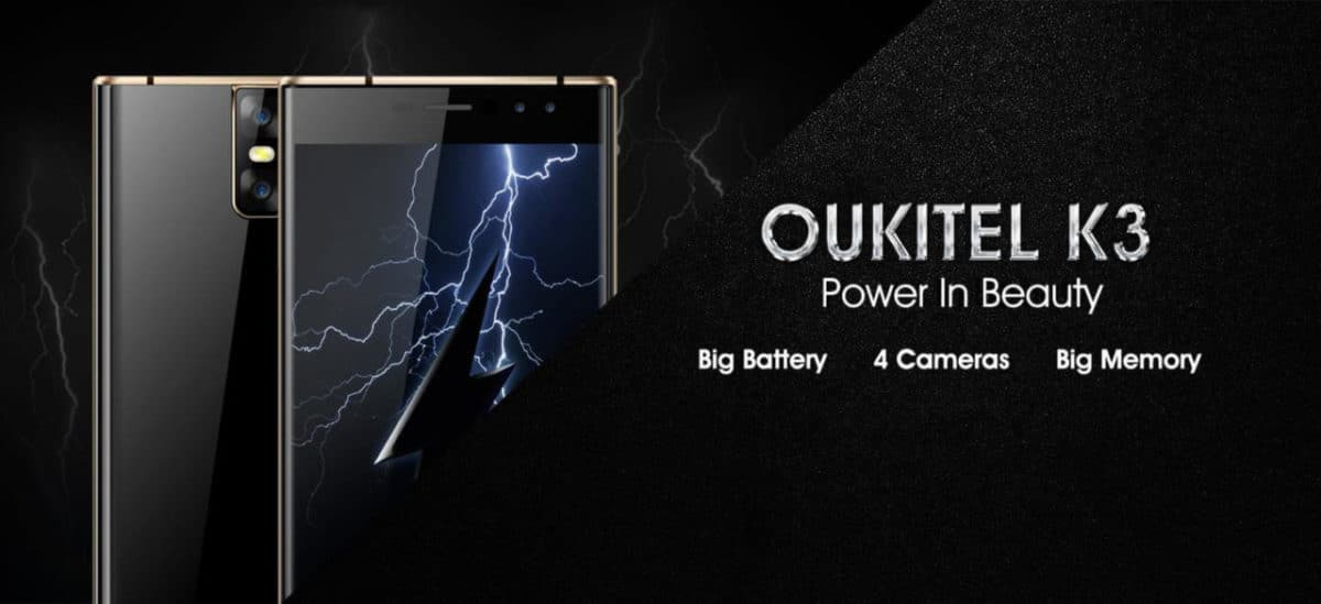 OUKITEL K3 Will Come With Dual curved Symmetrical design,large battery and 4 cameras