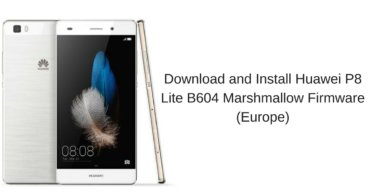 Huawei P8 Lite B604 Marshmallow Firmware