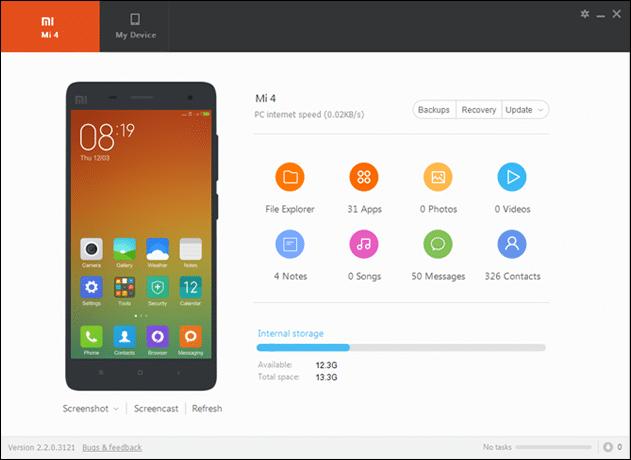 Download Latest Xiaomi PC Suite v.3.2.1.3111_2717