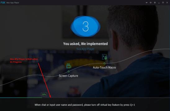 Nox App Player initialisation