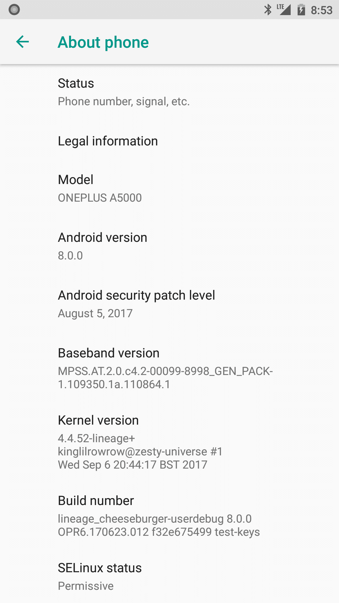 Lineage OS 15 For OnePlus 5