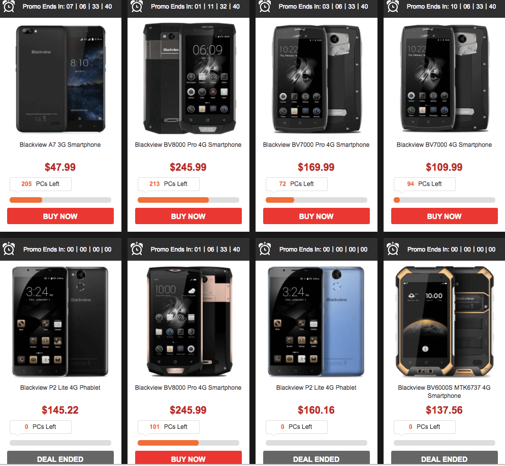 Gearbest's 2017 Top Mobile Blackview A7 Flash Sale