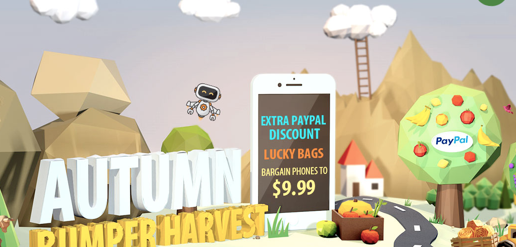 Gearbest's Best Autumn Bumper Harvest wins the lucky bag Sale