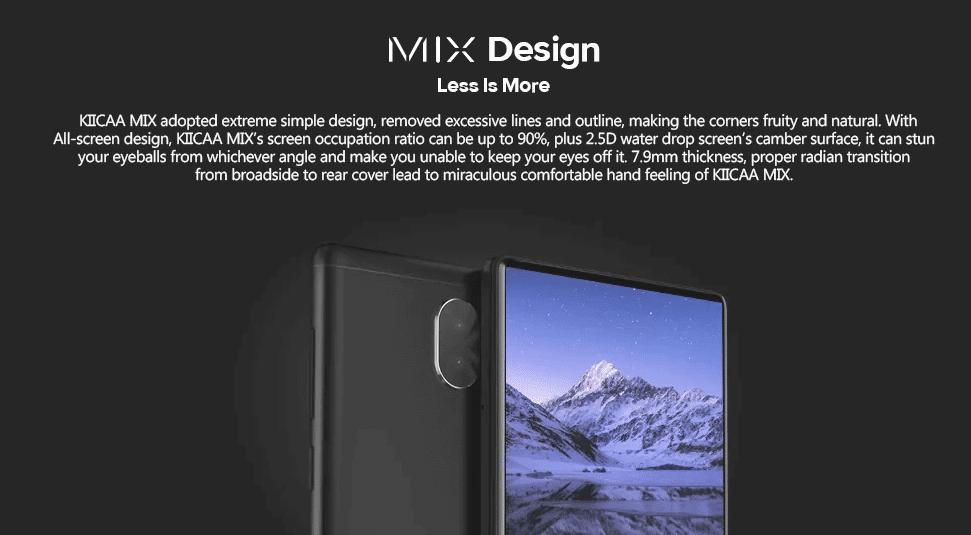 LEAGOO KIICAA Mix 4G Phablet Design