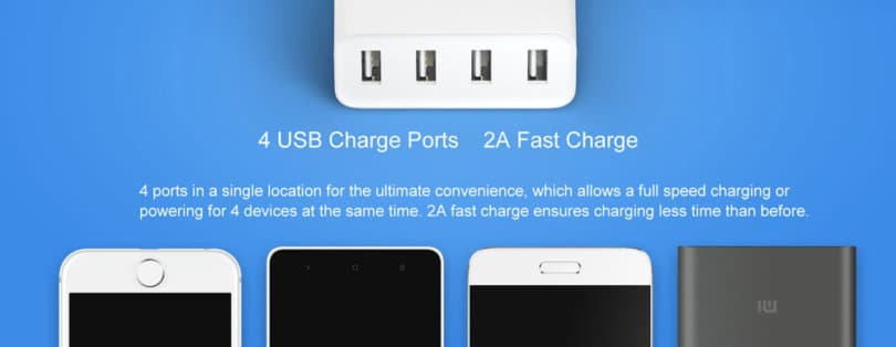 Xiaomi Mi 4 Port USB Charger